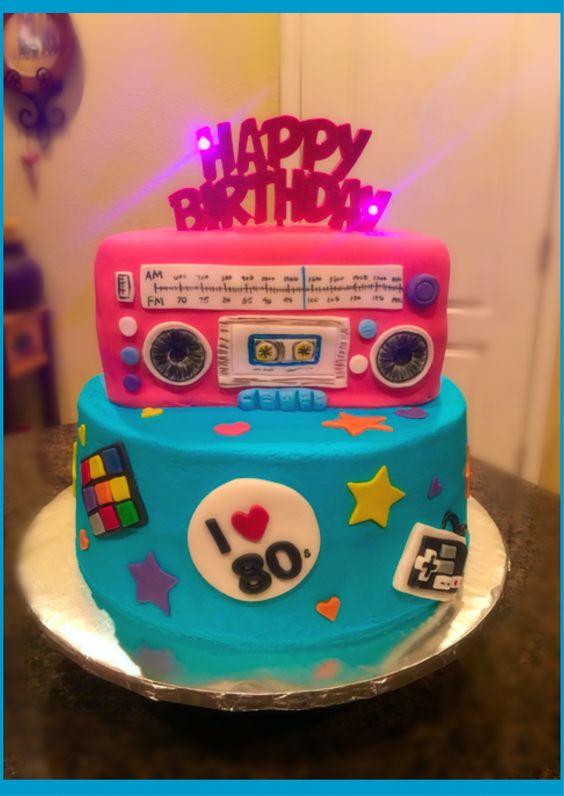 festa anos 80 bolos decorado