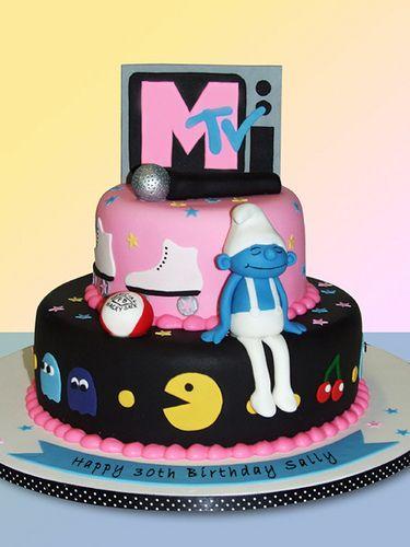festa anos 80 bolos ideias