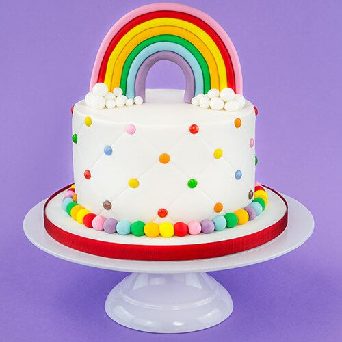 festa arco iris bolo
