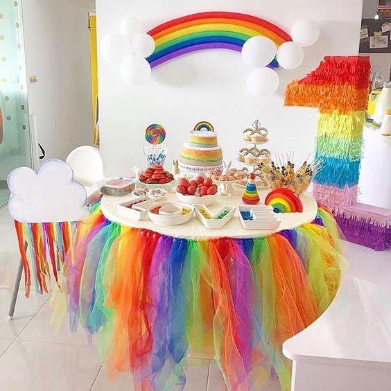 festa arco iris diy