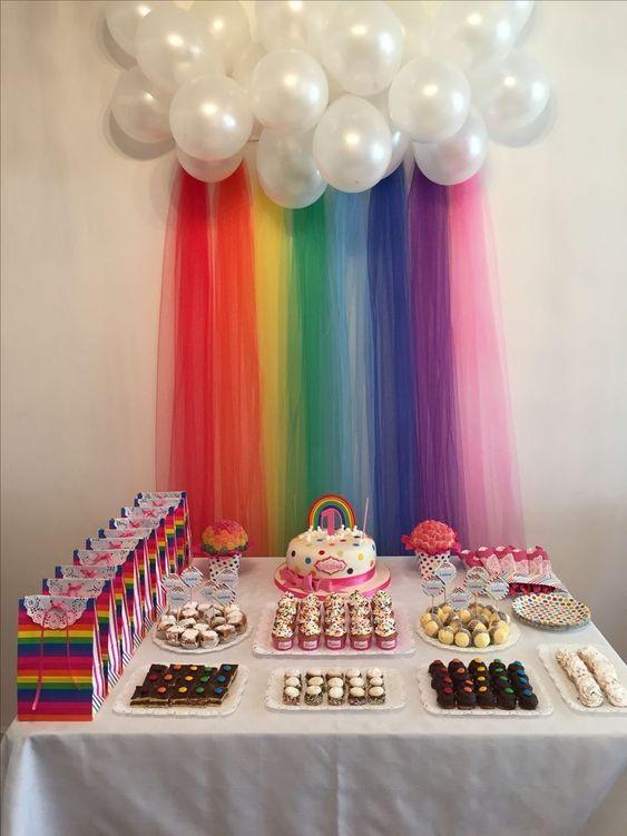 festa arco iris painel