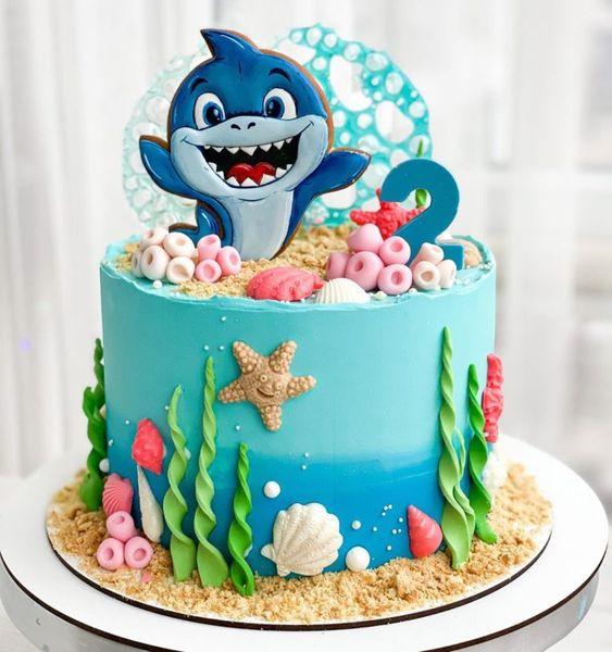 festa baby shark bolo 2