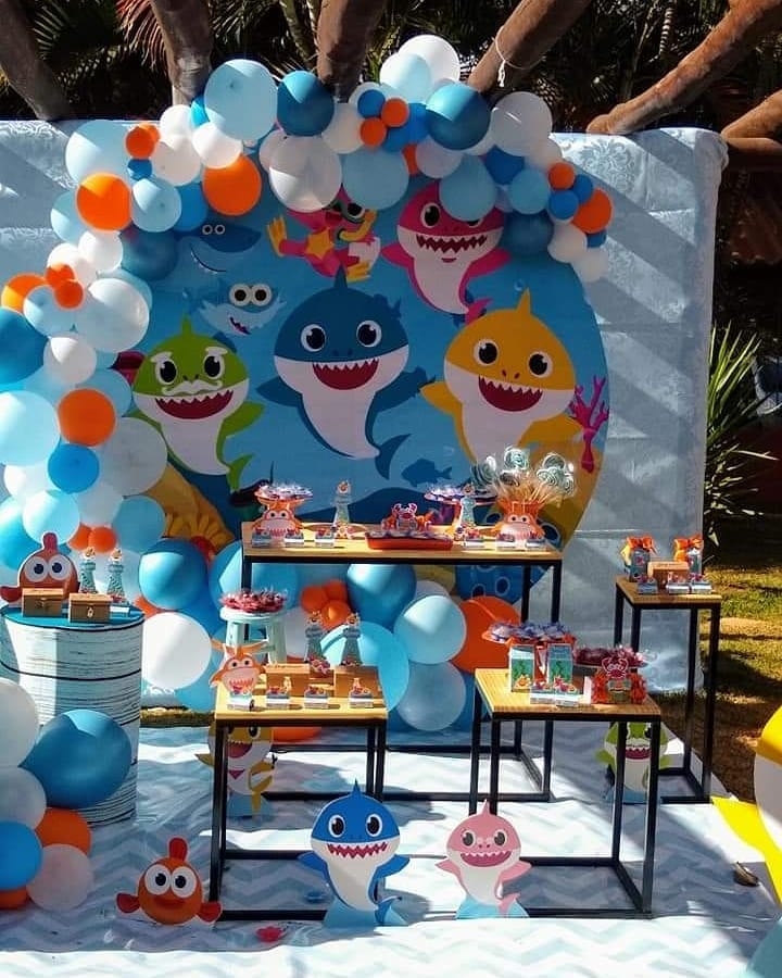 festa baby shark decoracao