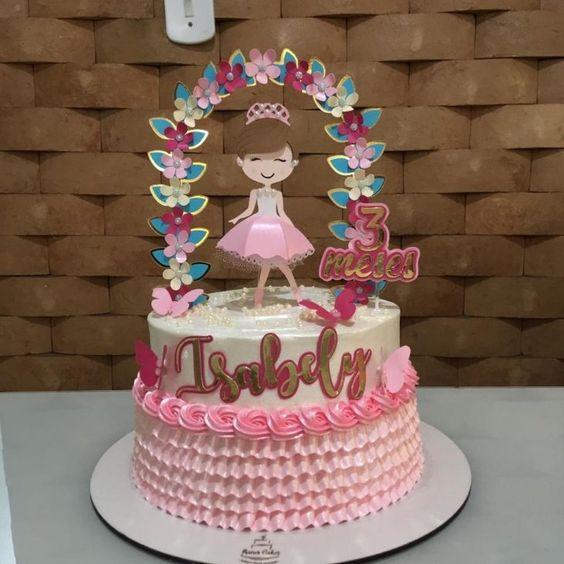 festa bailarina bolo delicado