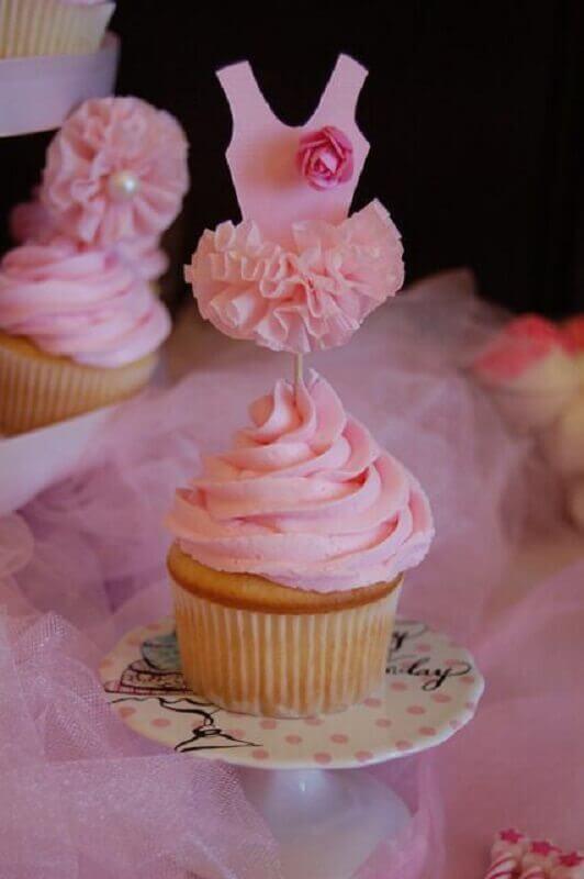 festa bailarina doces cupcakes