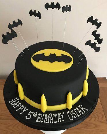 festa batman bolo simples