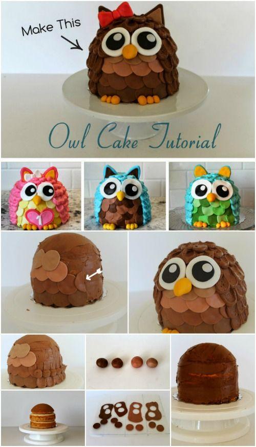 festa coruja bolo decorado 1