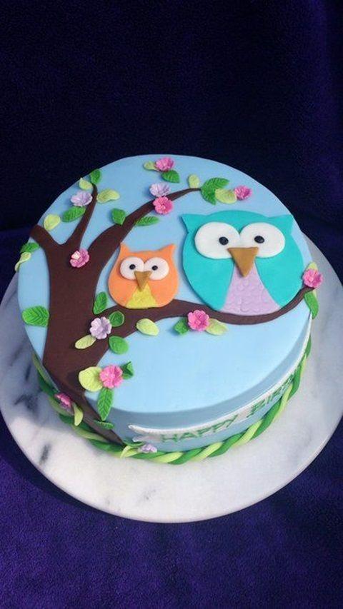 festa coruja bolo decorado 2