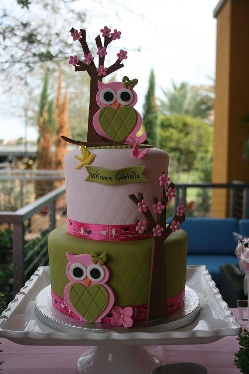 festa coruja bolo decorado 3