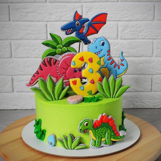 festa dinossauro bolo 3
