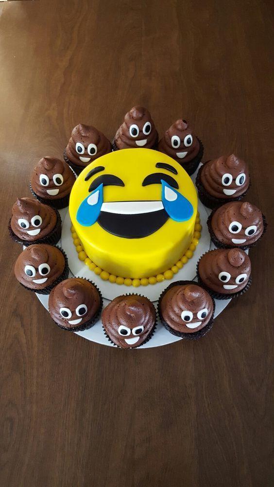 festa emoji bolo decorado