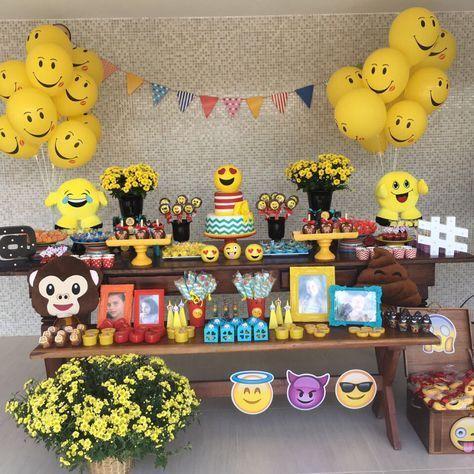 festa emoji decoracao ideias