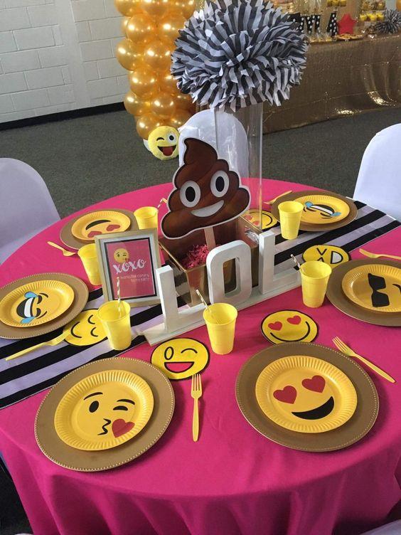 festa emoji decoracao simples