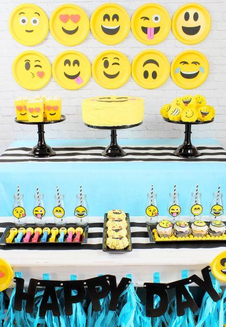 festa emoji decoracao