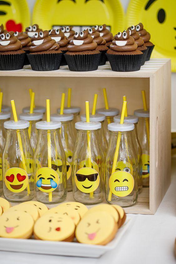 festa emoji docinhos ideias