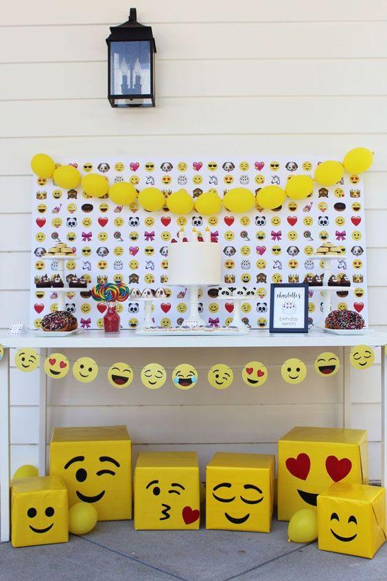 festa emoji painel ideias
