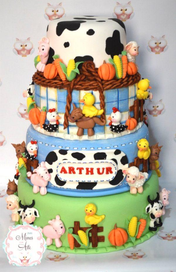 festa fazendinha bolo 1
