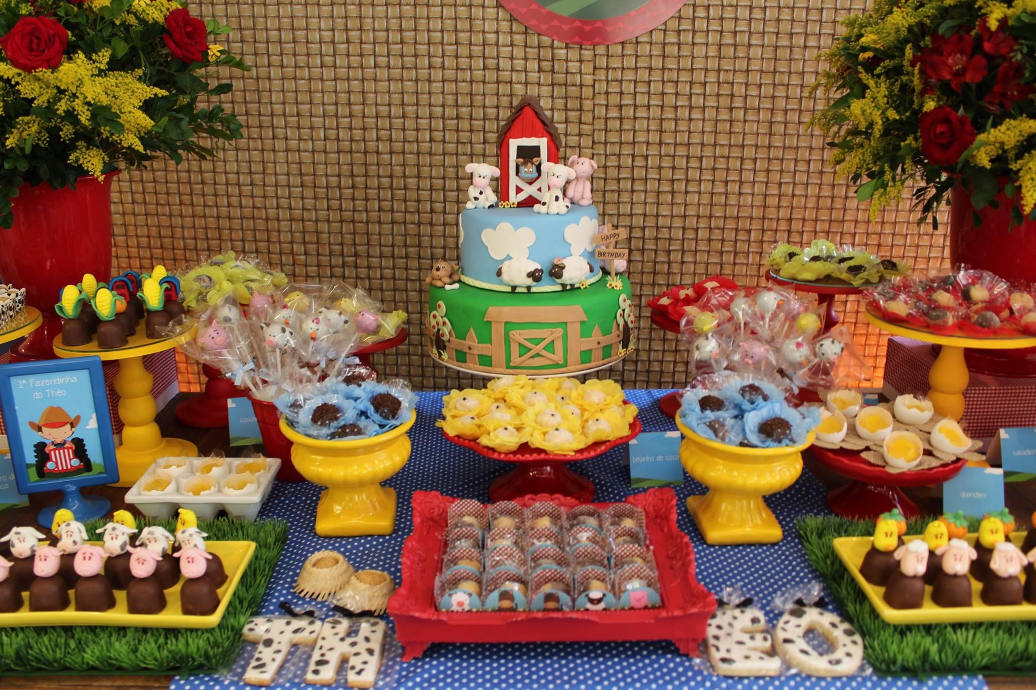 festa fazendinha doces