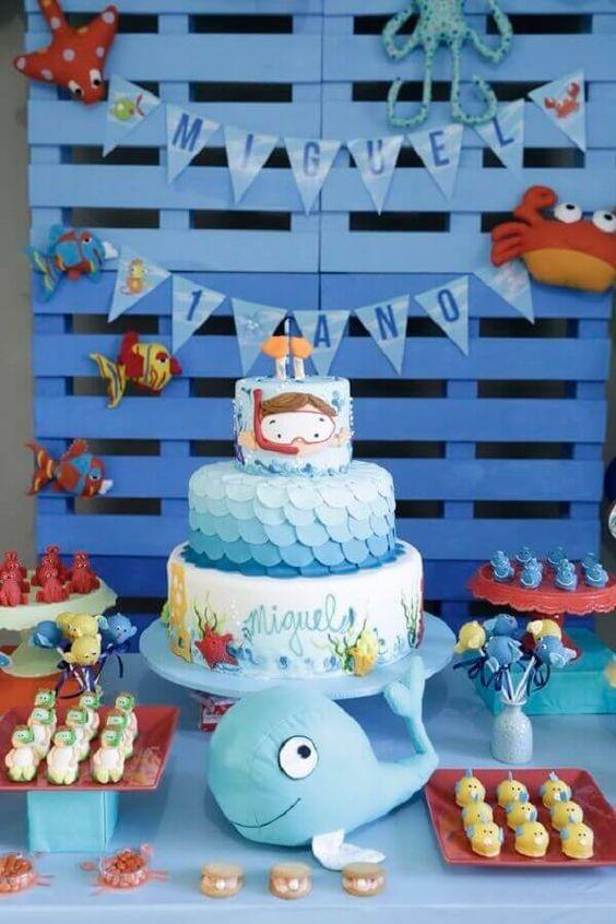 festa fundo mar bolo 1
