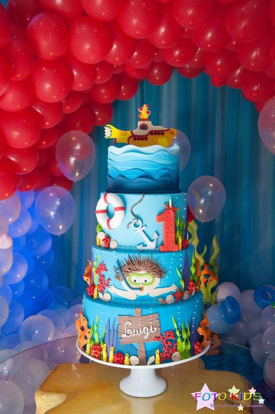festa fundo mar bolo 2