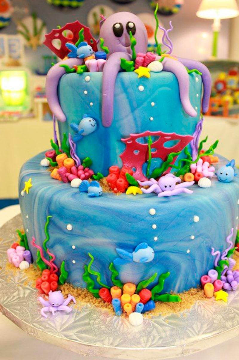 festa fundo mar bolo