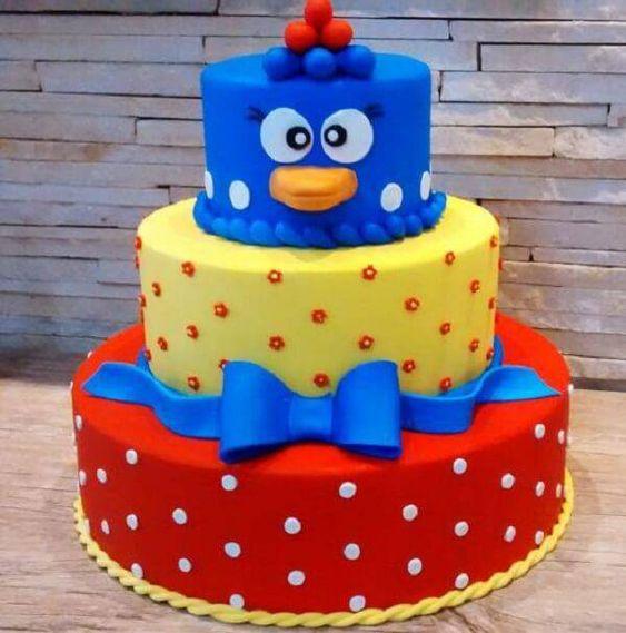 festa galnha pintadinha bolo 2