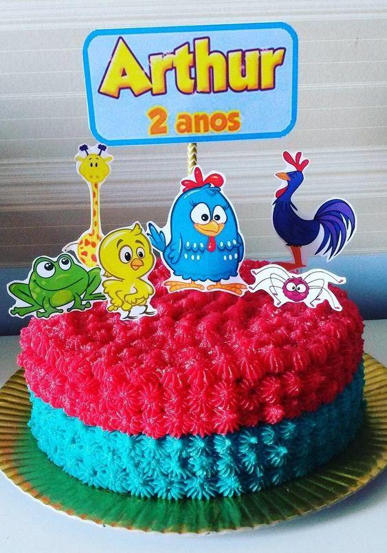 festa galnha pintadinha bolo 4