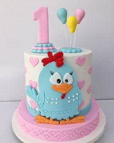 festa galnha pintadinha bolo