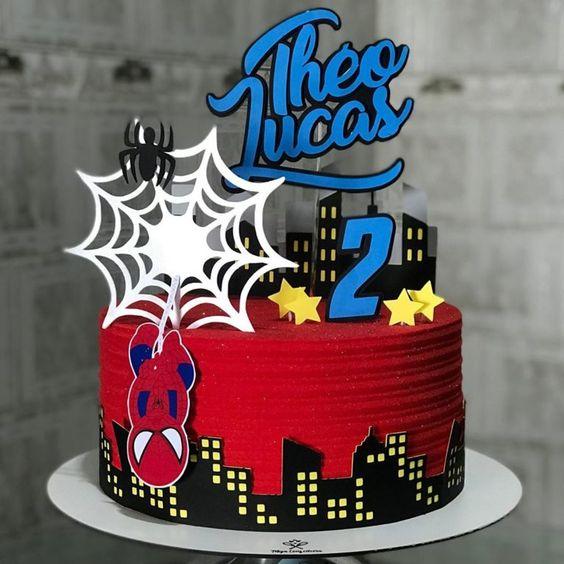 festa homem aranha bolos 1