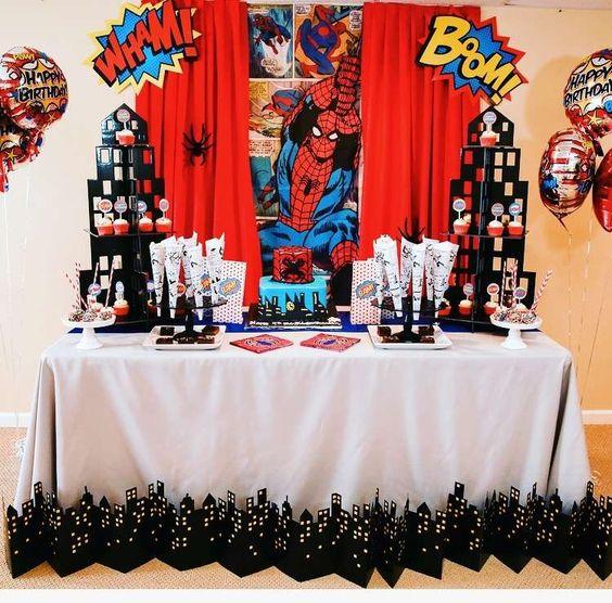 festa homem aranha decoracao 1