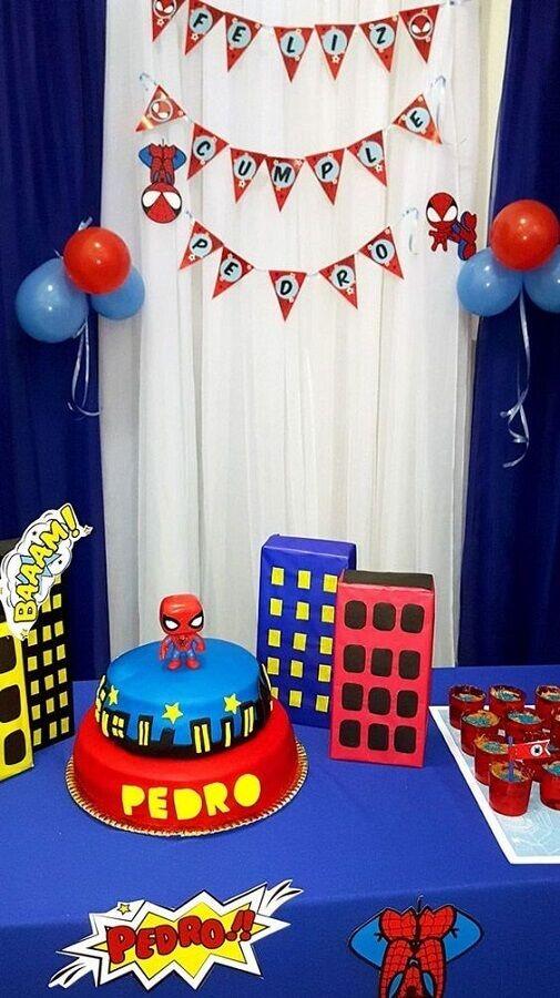 festa homem aranha decoracao 4