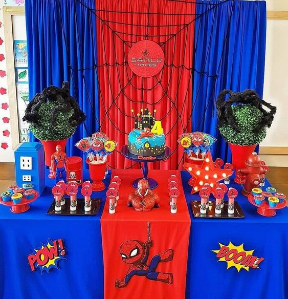 festa homem aranha decoracao