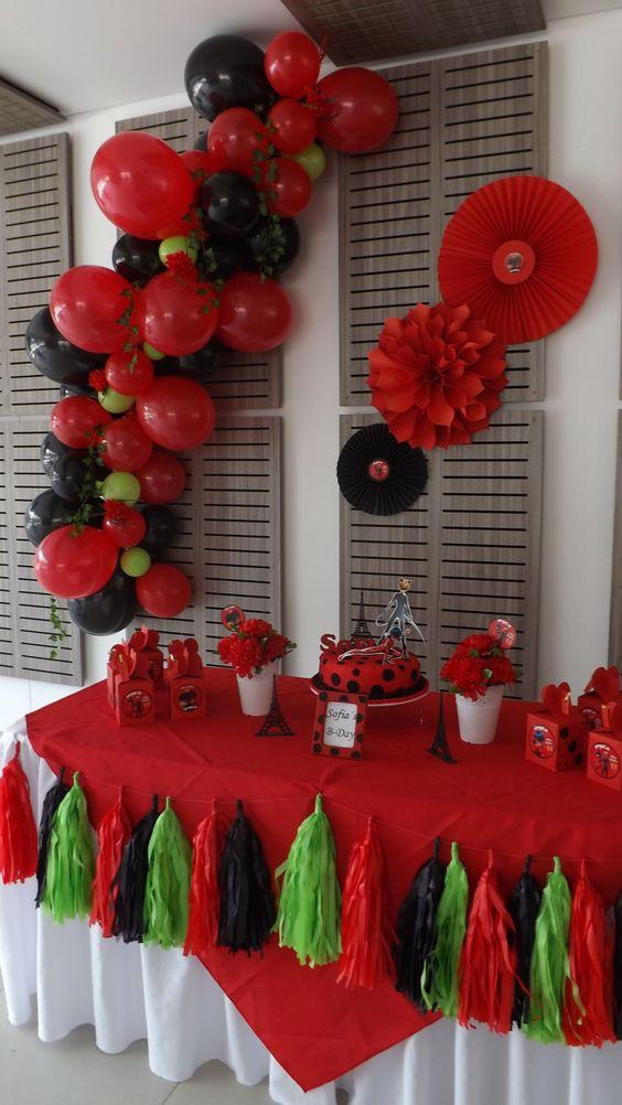 festa ladybug decoracao