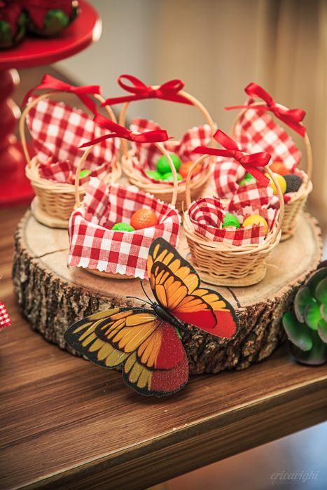 festa masha urso docinhos cestas