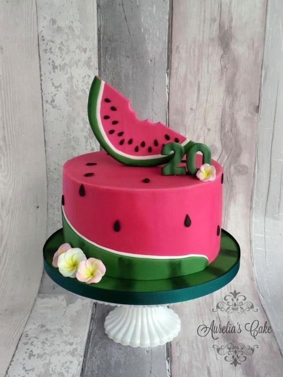 festa melancia bolo ideias
