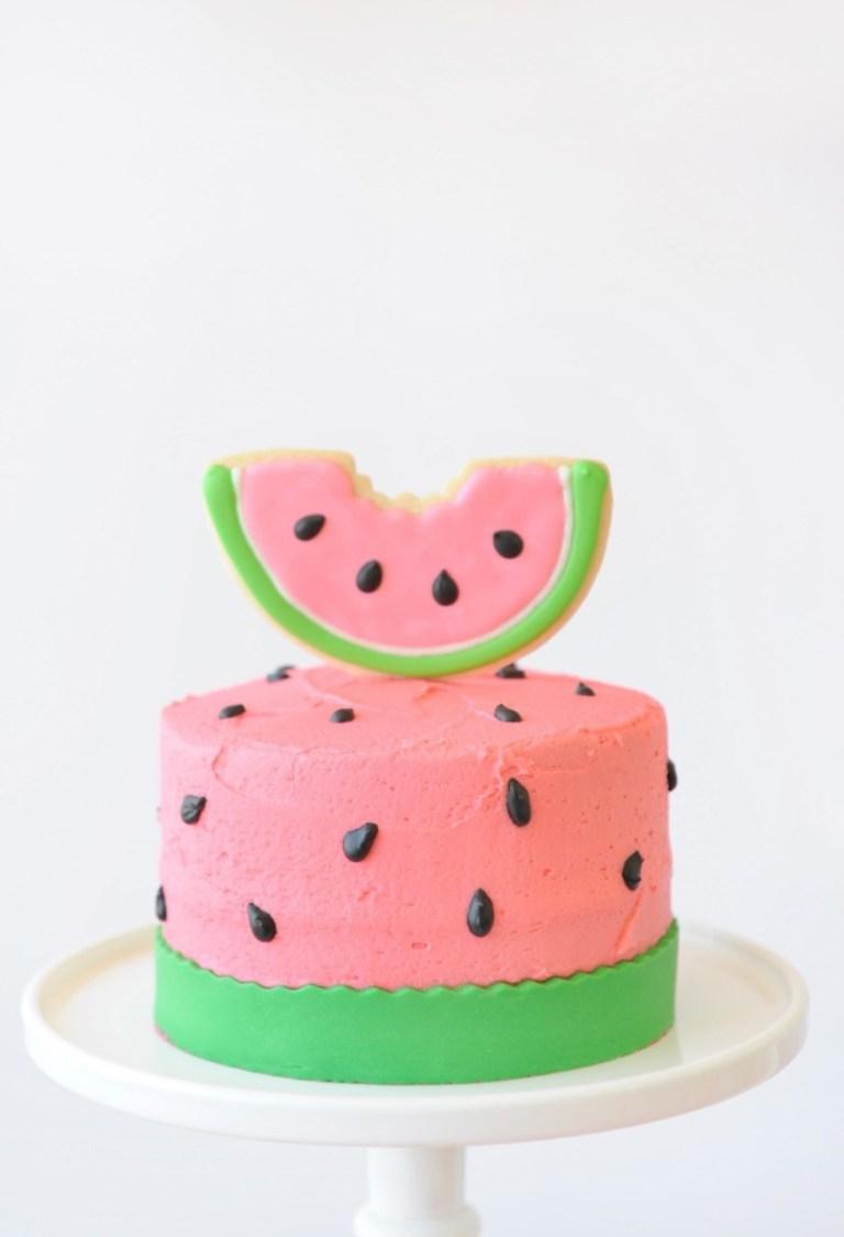 festa melancia bolo simples