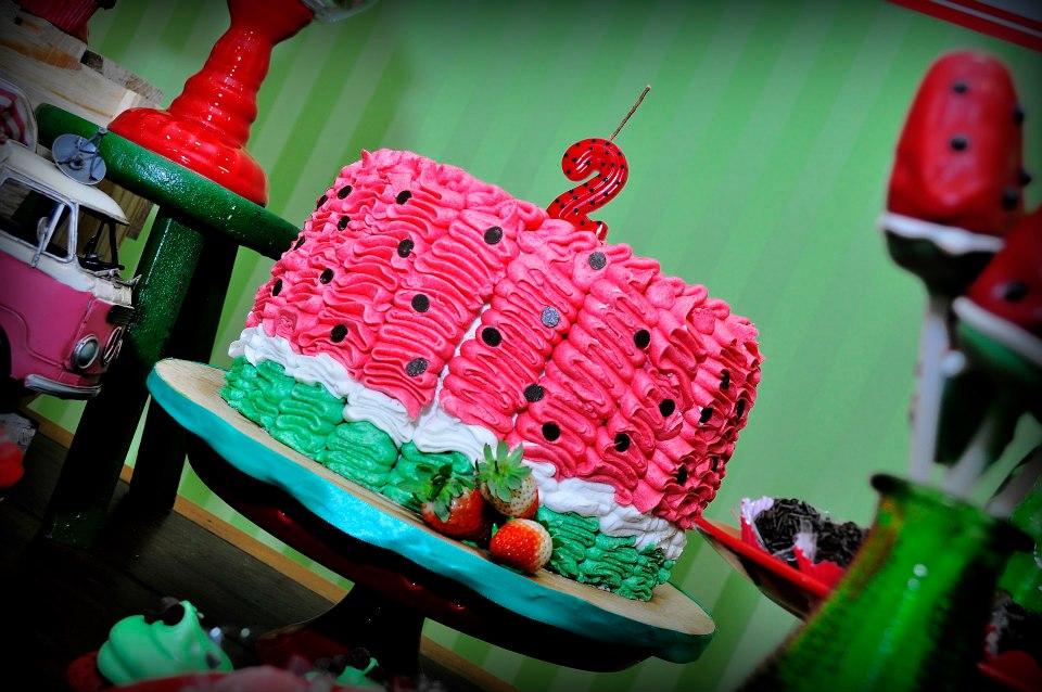 festa melancia bolo