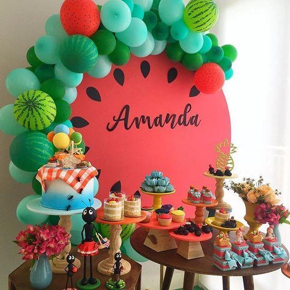 festa melancia decoracao