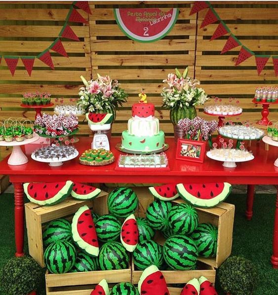 festa melancia decoracao ideias
