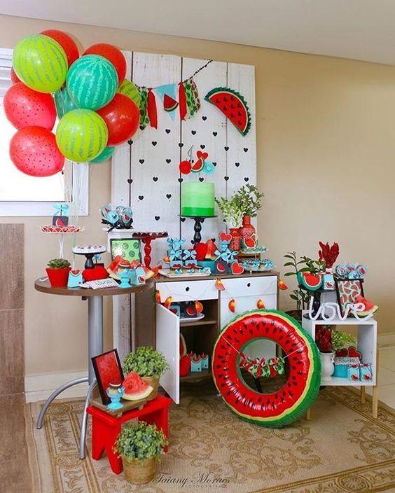 festa melancia decoracao inspiracao