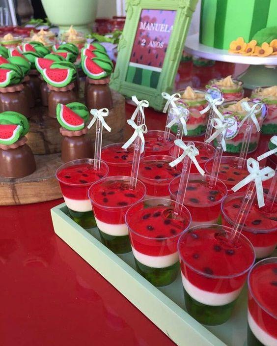 festa melancia docinhos gelatina