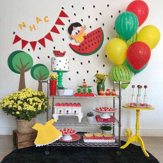 festa melancia painel simples