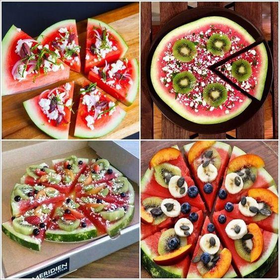 festa melancia servir melancia pizza