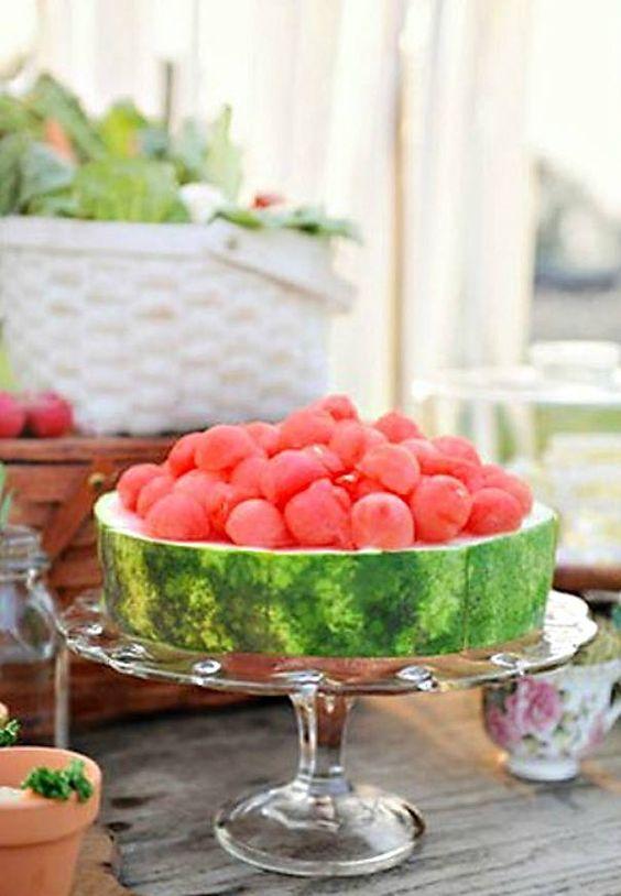 festa melancia servir melancia