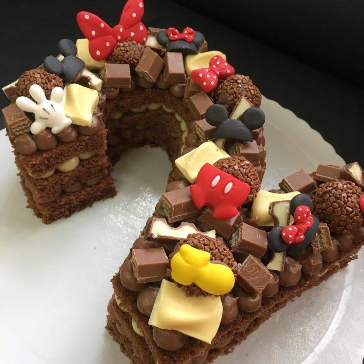festa mickey bolo numero