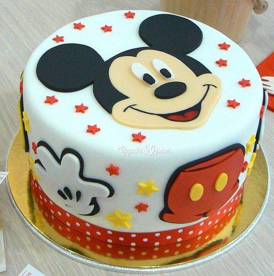 festa mickey bolo redondo
