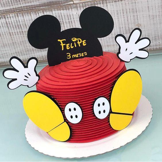 festa mickey bolo