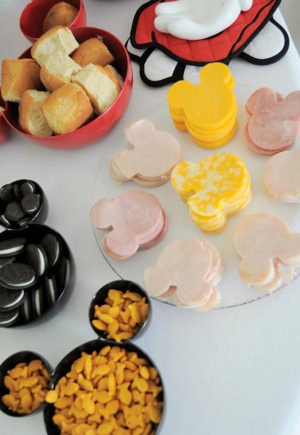festa mickey comida cupcakes