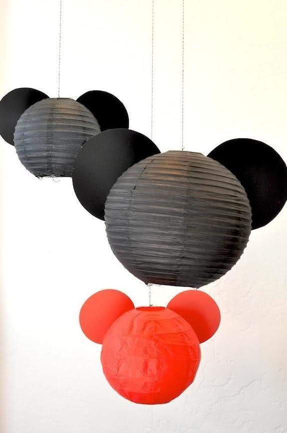 festa mickey diy lanternas