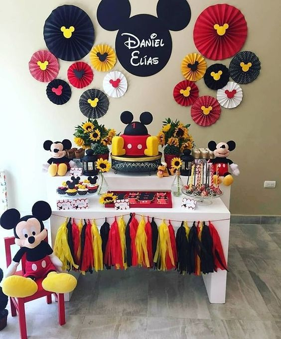 festa mickey painel papel